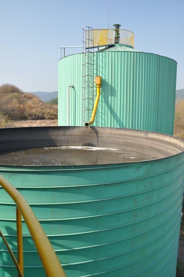 Biogastechnikanlage 7 stockfotografie