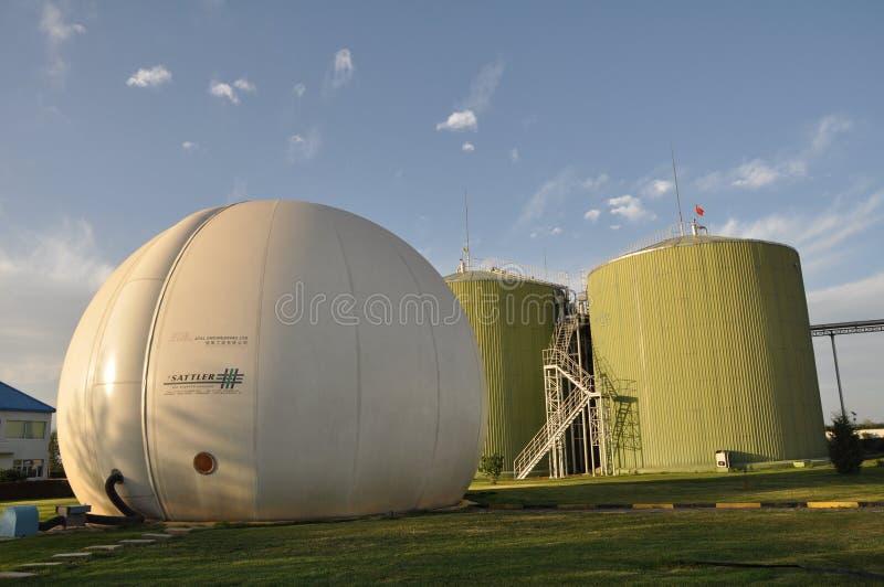 Biogasteknikväxt royaltyfri bild