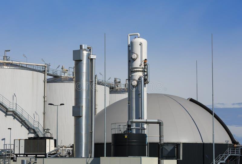 Biogasväxt royaltyfri foto