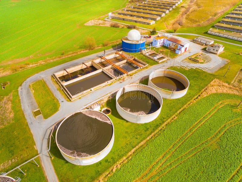 Biogasväxten royaltyfria foton