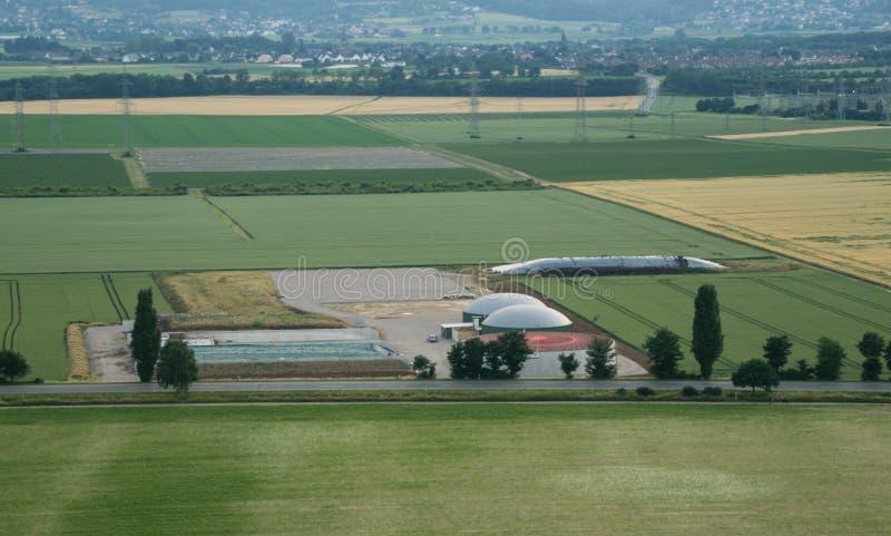 biogasväxtström royaltyfri foto