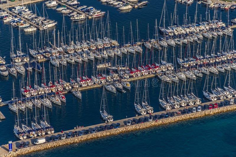 Biograd marina antena fotografia royalty free