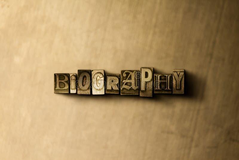 BIOGRAFÍA - primer de la palabra compuesta tipo vintage sucio en el contexto del metal stock de ilustración