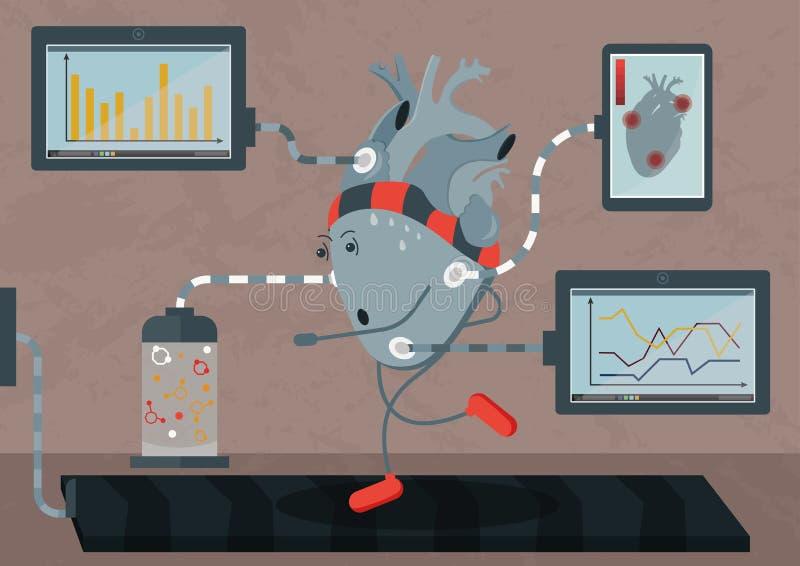 Biohacking - bevorder uw lichaam voor het langere leven stock illustratie
