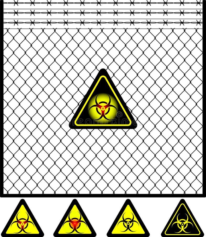 biohazard范围滤网符号电汇 皇族释放例证