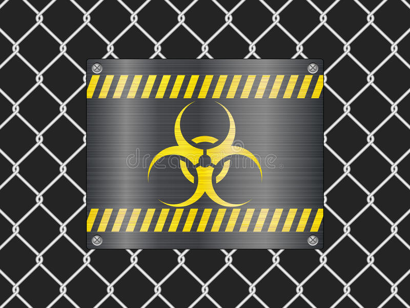 biohazard范围符号电汇 皇族释放例证