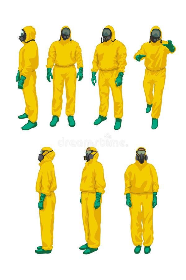 Biohazard установленный на белизну бесплатная иллюстрация