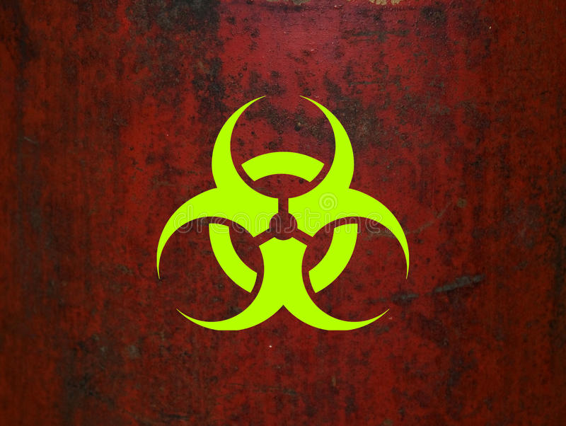 biohazard royaltyfri illustrationer