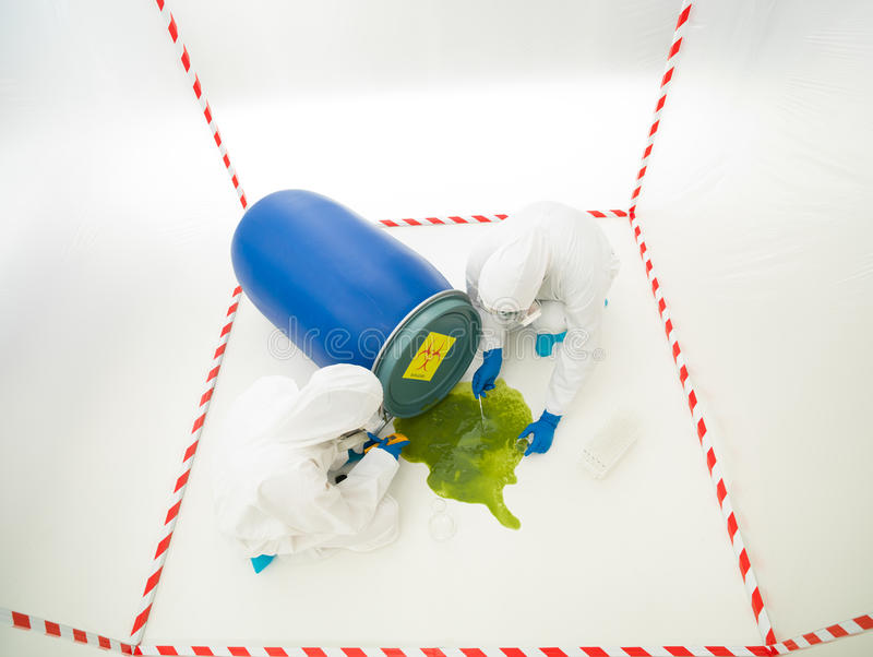 Biohazard accident royalty free stock photo