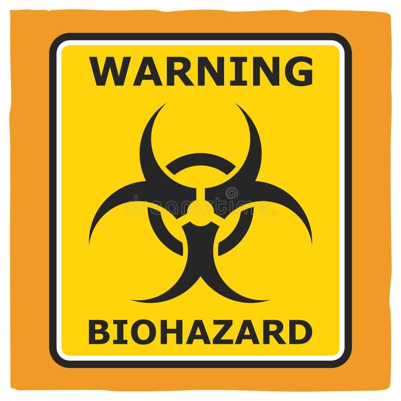 Biohazard amonestador, diseño del cartel ilustración del vector