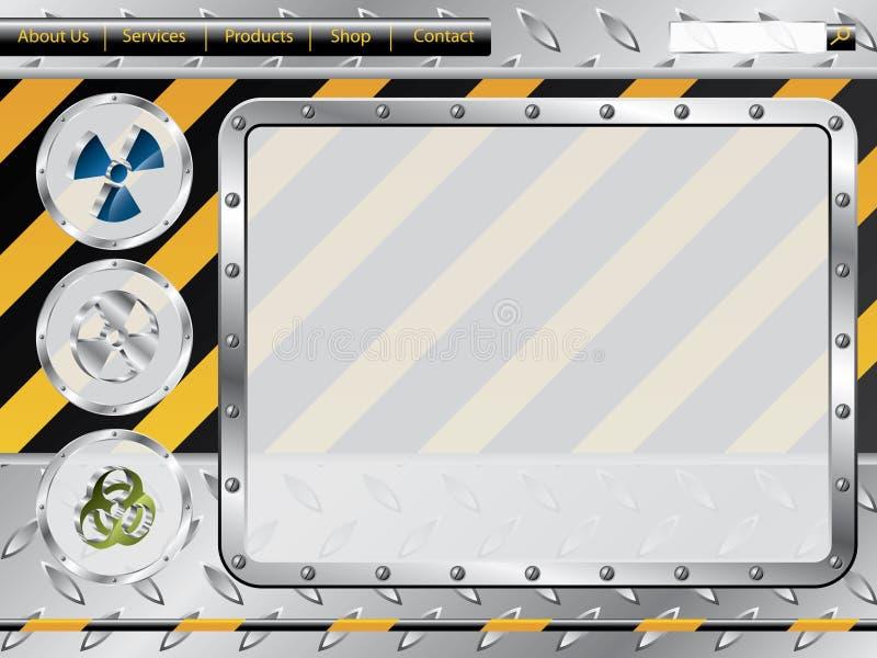 Biohazard Aufbauweb-Schablone stock abbildung