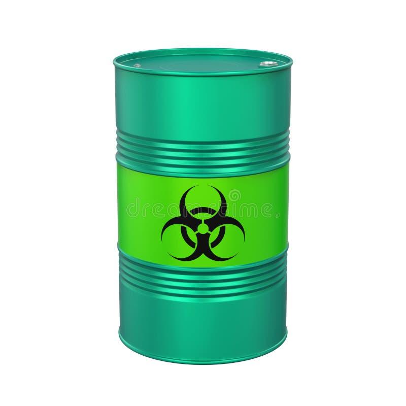 Biohazard Barrel Isolated royalty free illustration