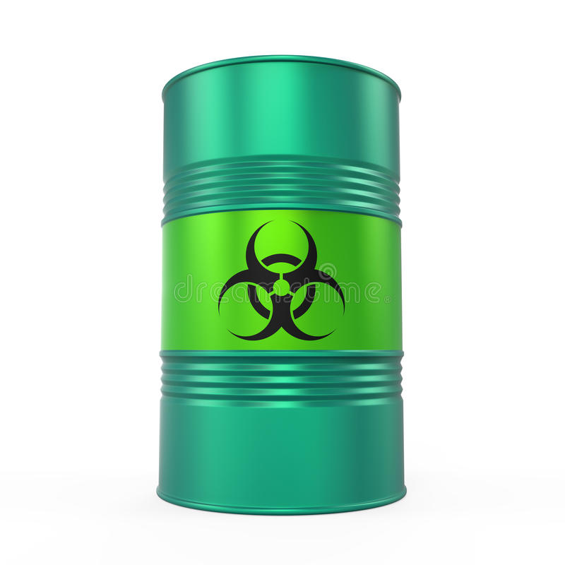 Biohazard Barrel Isolated vector illustration