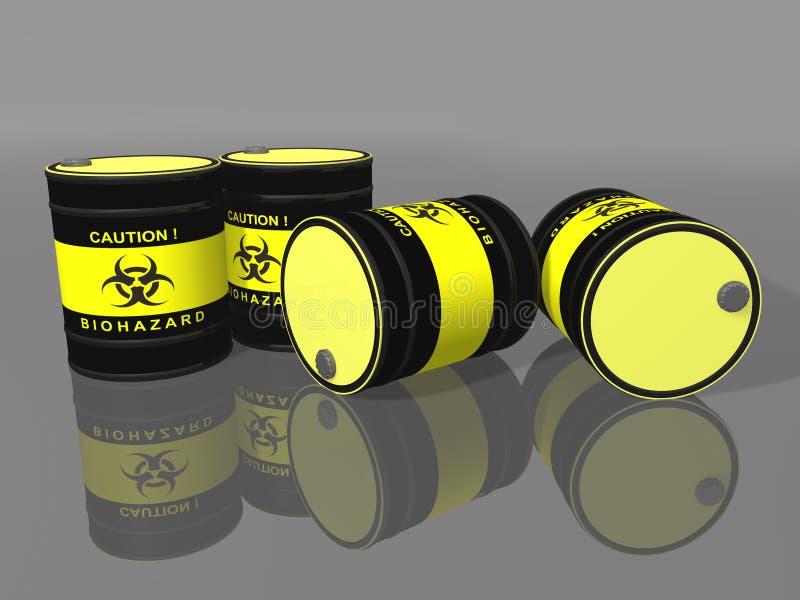 Biohazard Barrels Royalty Free Stock Image