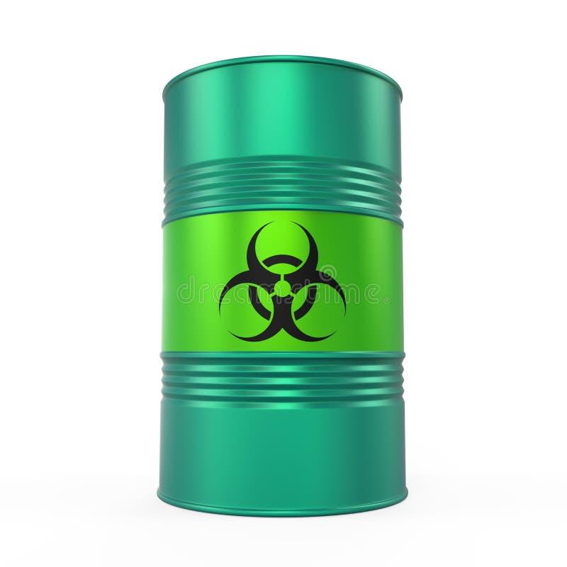 Biohazard baryłka Odizolowywająca ilustracja wektor