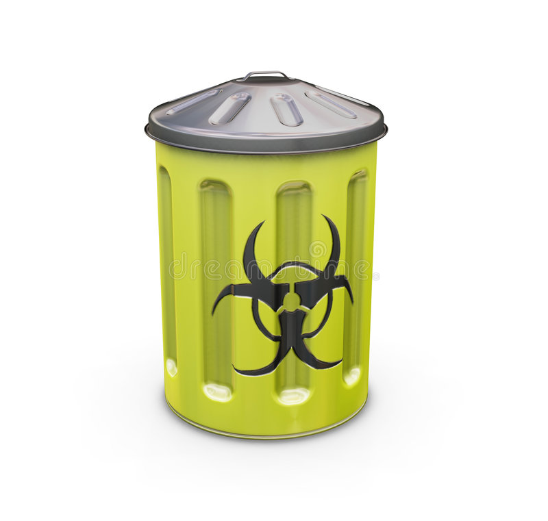 Biohazard bin royalty free stock image