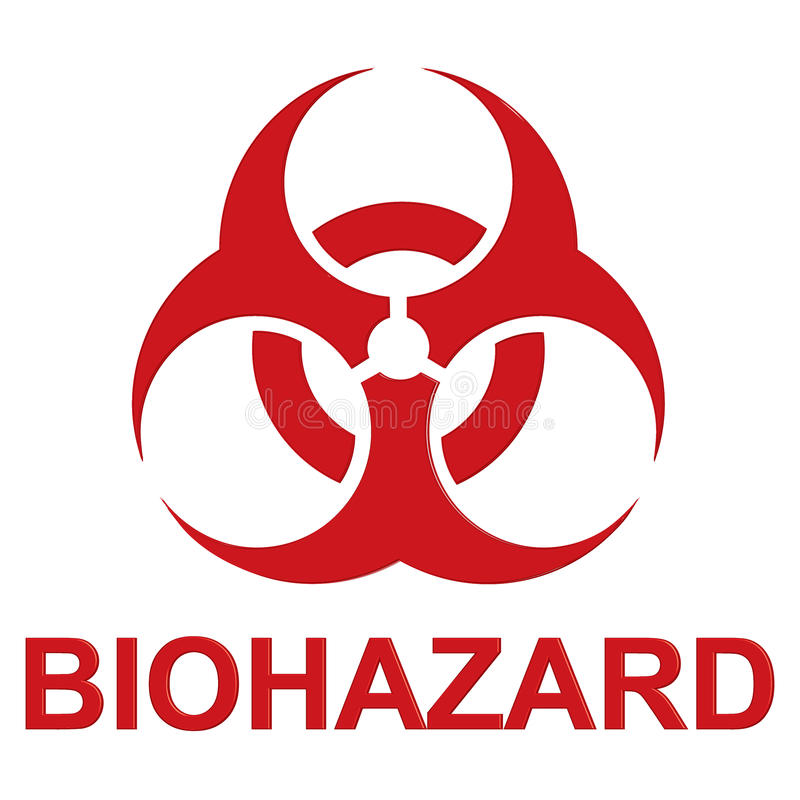 biohazard eps10 ilustraci znaka wektor royalty ilustracja
