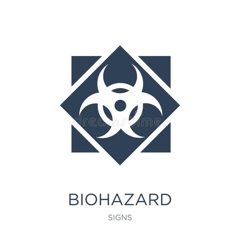 Biohazard icon in trendy design style. biohazard icon isolated on white background. biohazard vector icon simple and modern flat. Symbol for web site, mobile vector illustration