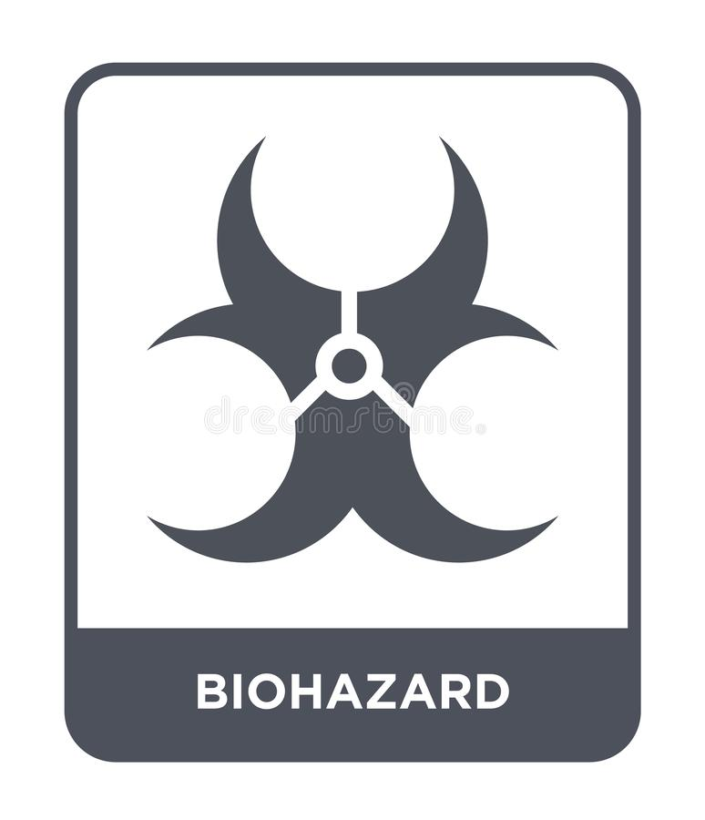 Biohazard icon in trendy design style. biohazard icon isolated on white background. biohazard vector icon simple and modern flat. Symbol for web site, mobile stock illustration
