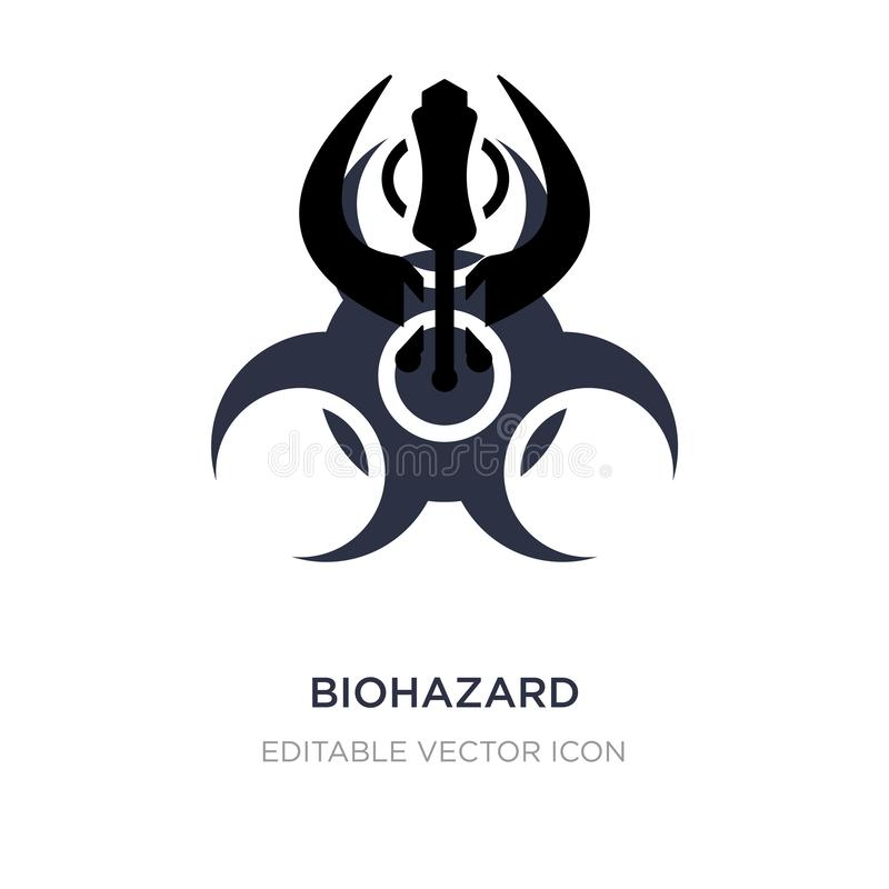 biohazard icon on white background. Simple element illustration from Signs concept royalty free illustration