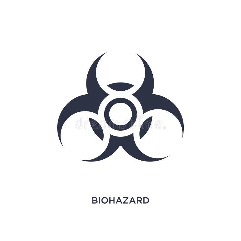 biohazard ikona na białym tle Prosta element ilustracja od chemii pojęcia ilustracja wektor