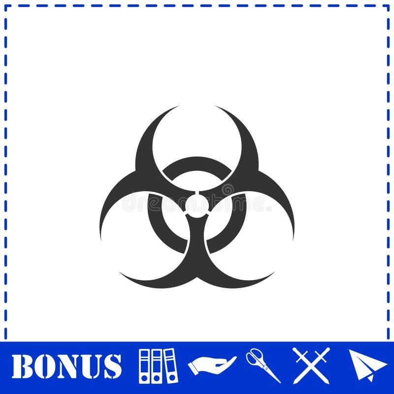 Biohazard ikony mieszkanie royalty ilustracja