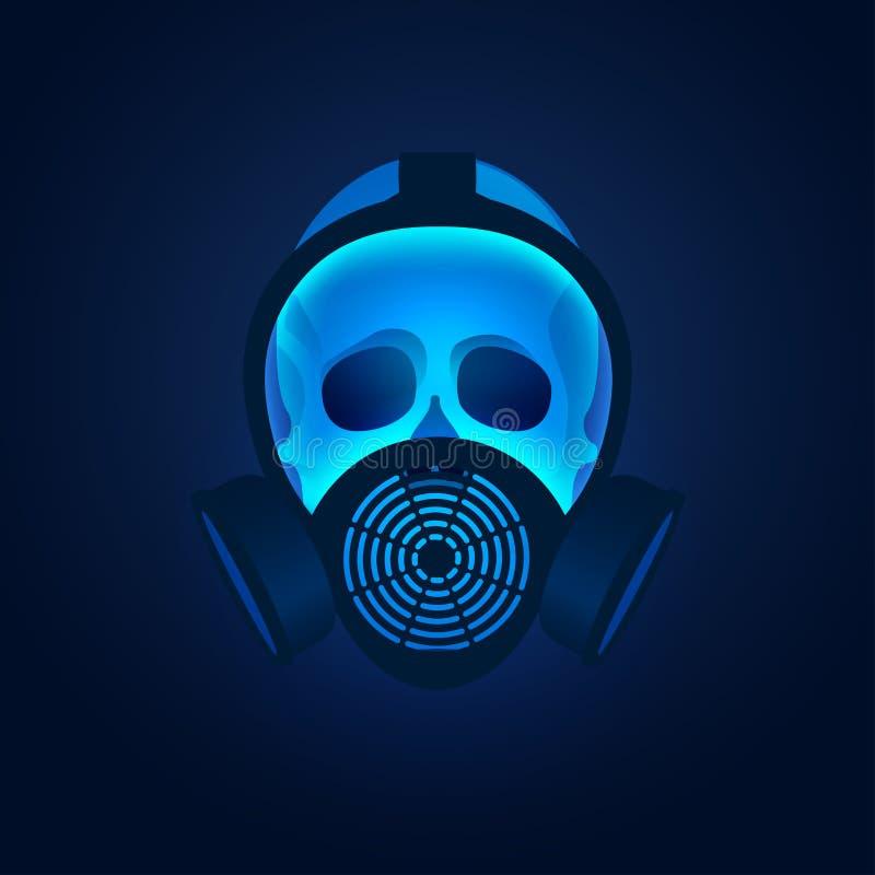 Biohazard maska ilustracja wektor