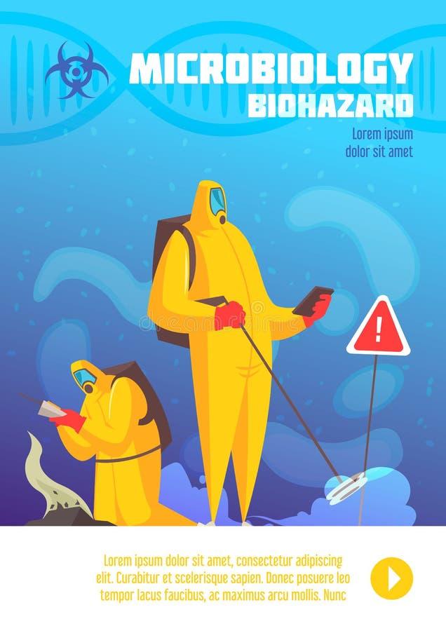 Biohazard obserwacji Pionowo plakat ilustracja wektor