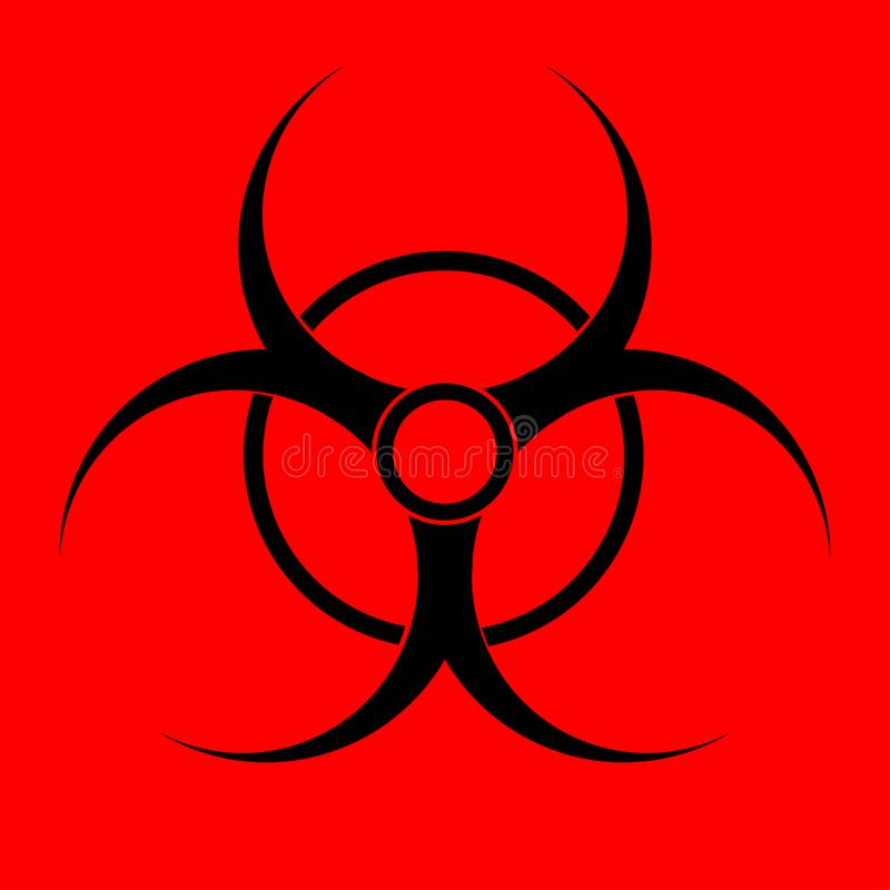 Biohazard sign. Warning radiation hazard vector illustration
