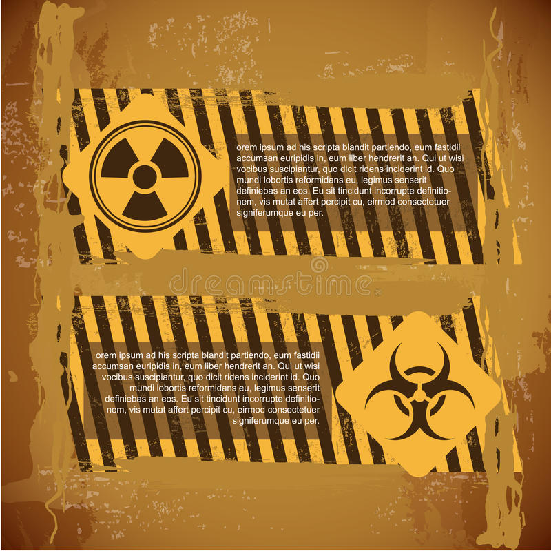 Biohazard signs vector illustration