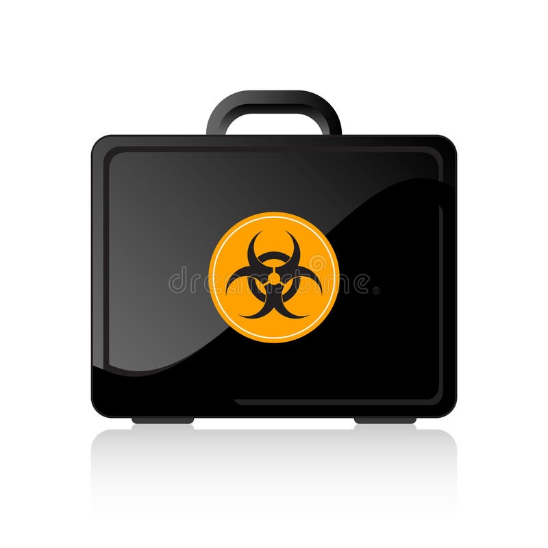 Biohazard Suitcase Royalty Free Stock Photos