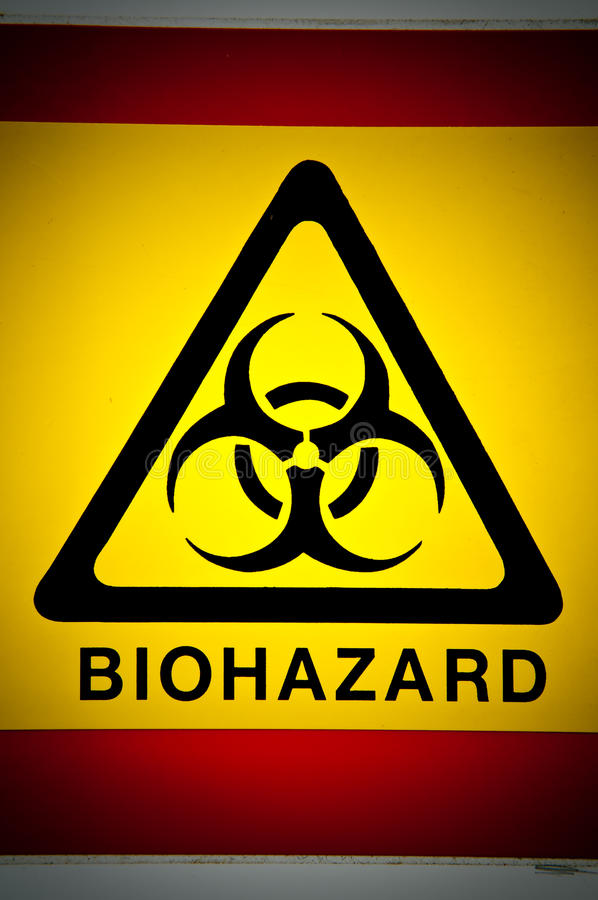 Biohazard symbol. stock image