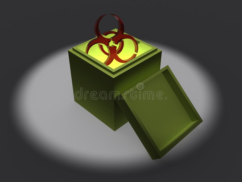 Download Biohazard symbol in box stock illustration. Image of light - 8694017