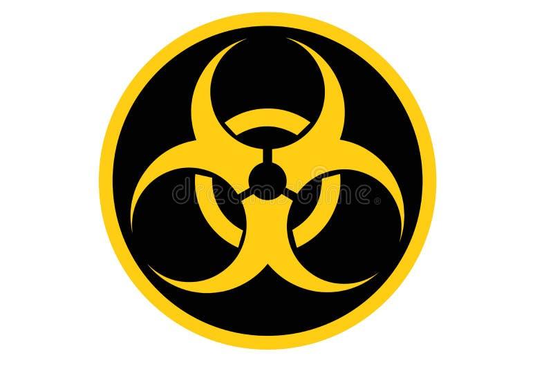 Biohazard symbol. Isolated on white royalty free illustration