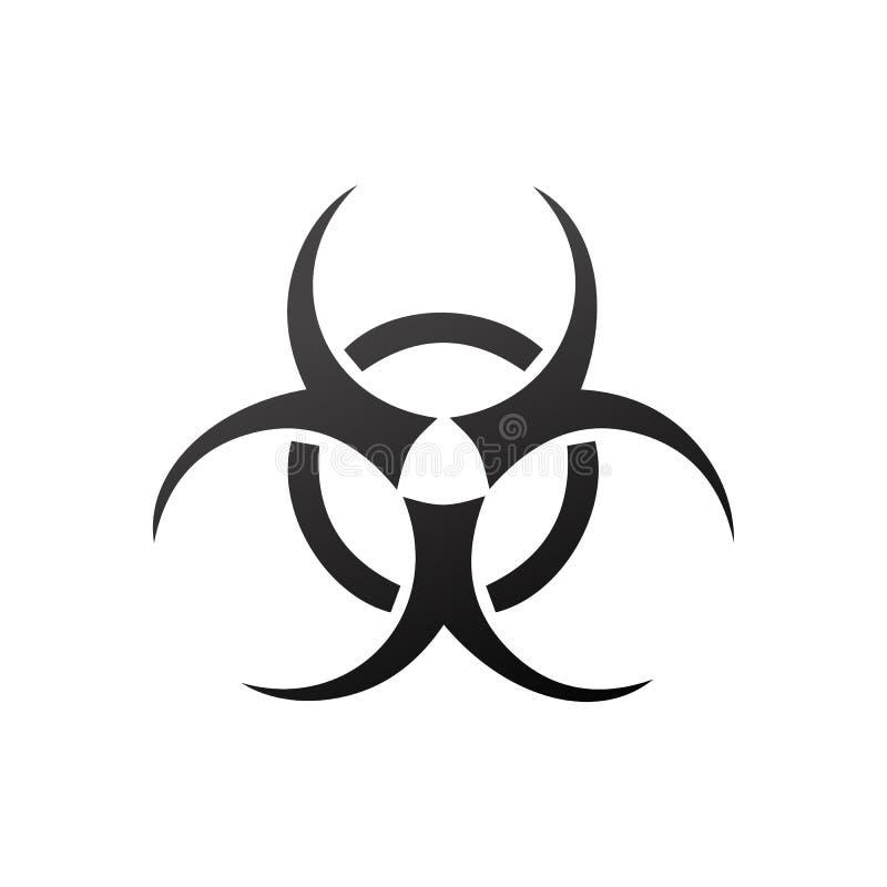 Biohazard symbol Odizolowywający Na Białym tle - Wektorowa ikona - royalty ilustracja
