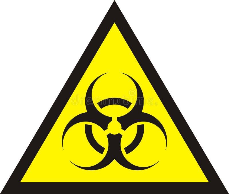 Biohazard Symbol Sign Of Biological Threat Alert Stock Illustration