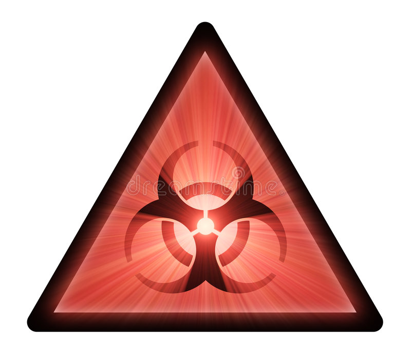 Biohazard Warning Sign Light Flare Stock Photos