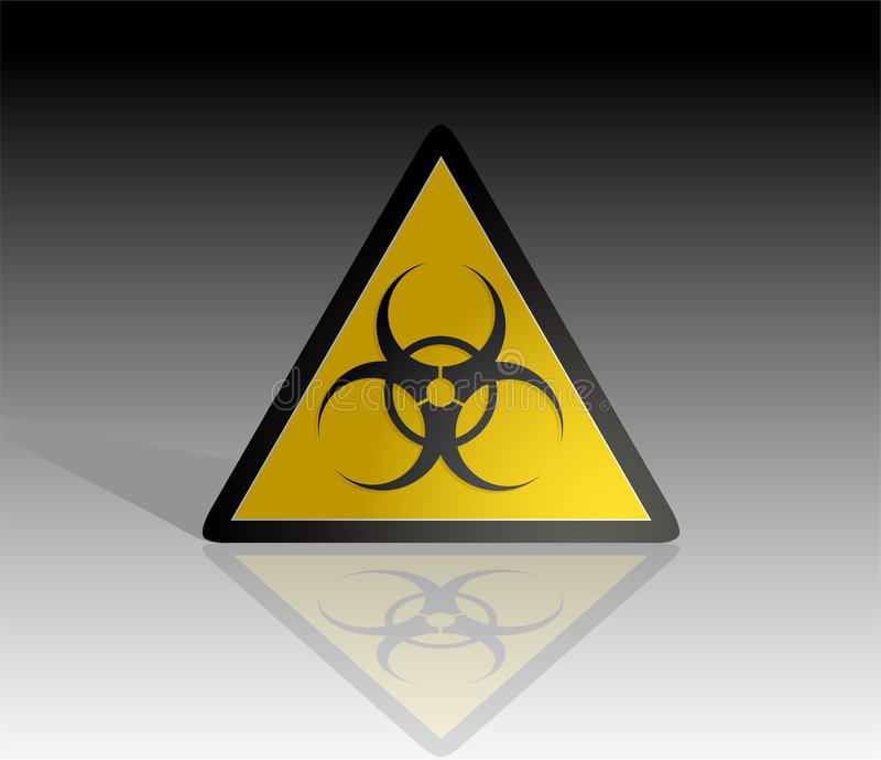 Biohazard Zeichen vektor abbildung