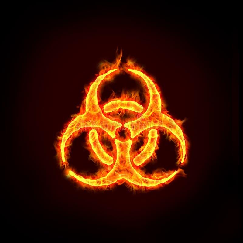 Biohazard znak ilustracja wektor