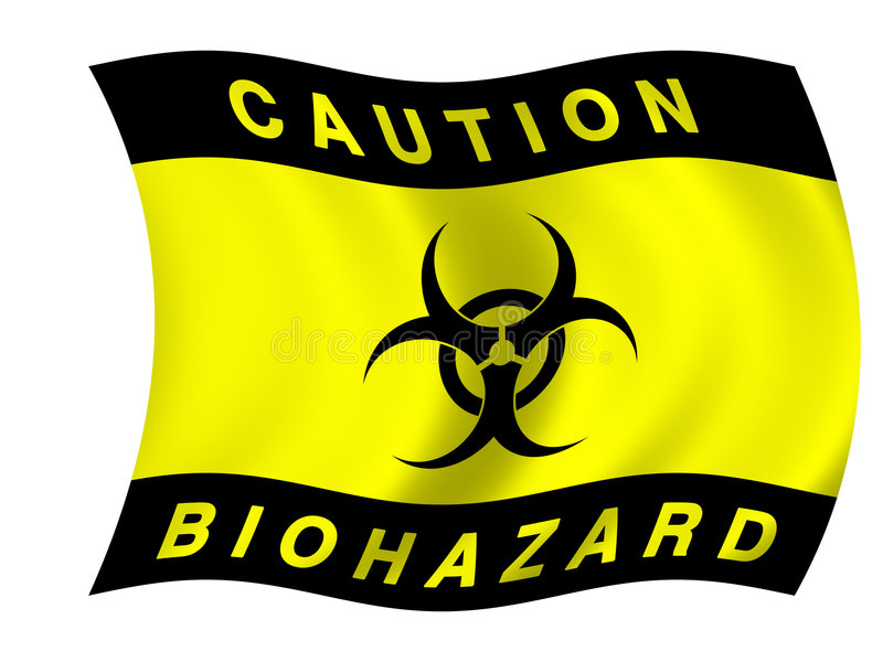 biohazardflagga stock illustrationer