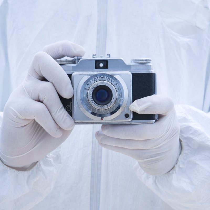 biohazardkameraman royaltyfri bild