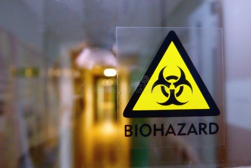 biohazardlogo arkivfoton