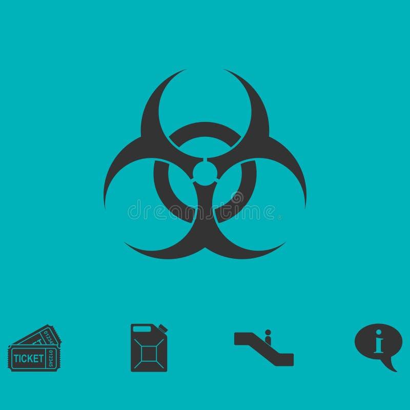 Biohazardsymbolslägenhet vektor illustrationer