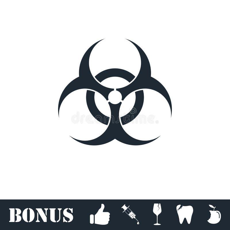 Biohazardsymbolsl?genhet royaltyfri illustrationer