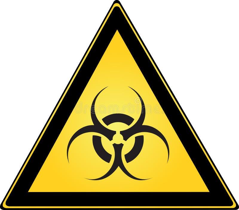 biohazardtecken stock illustrationer
