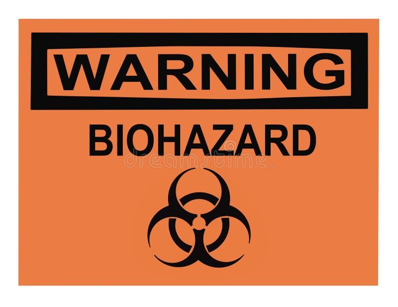 biohazardteckenvarning arkivbilder