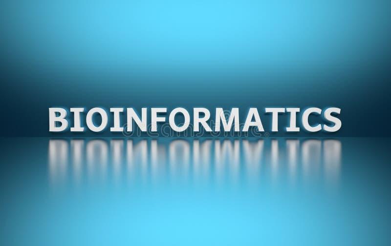 Bioinformática da palavra ilustração stock