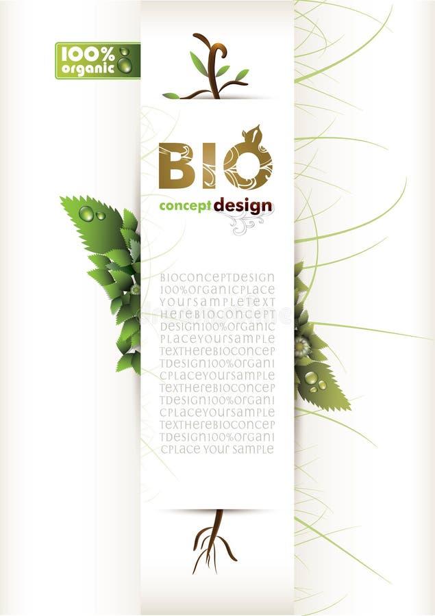 Biokonzeptauslegung eco freundlich lizenzfreie abbildung