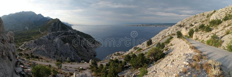 Biokovo Berge in Kroatien stockfotos