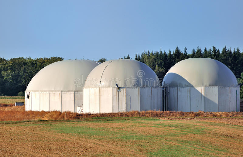 Biokraftstoffanlage. stockbilder